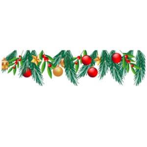 vinilo-decorativo-guirnalda-navideña
