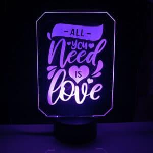 lámpara-led-love